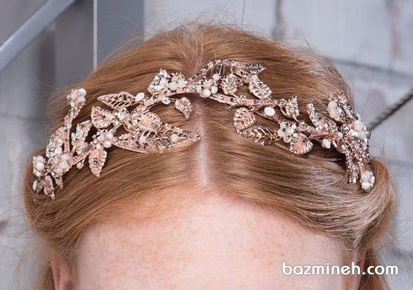 تاج تلی طلایی مدلی زیبا برای موی باز
