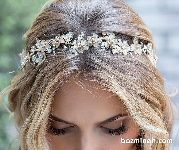 ریسه مو ظریف نگیندار اکسسوری زیبا برای عروس خانمها در مراسم عقد