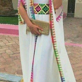 مدل مانتو عقد بلند دو تکه با پارچه کرپ حریر سفید رنگ
