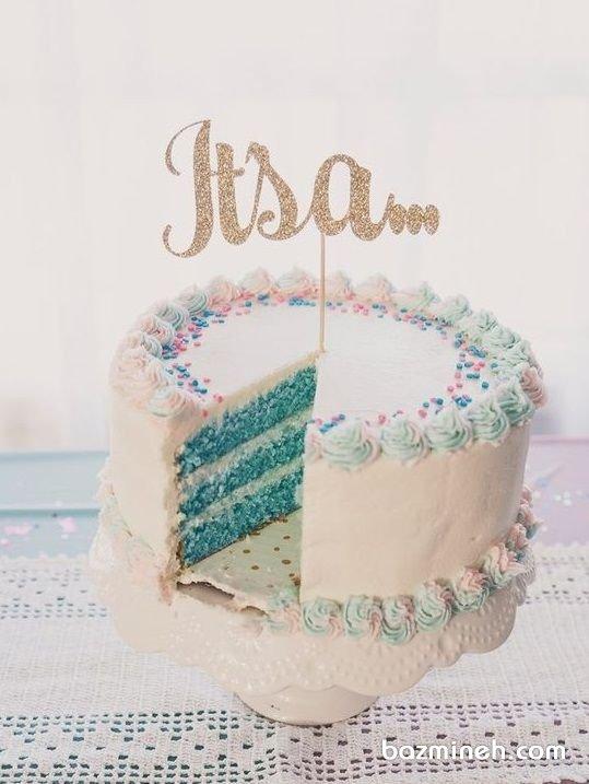 کیک خلاقانه جشن بیبی شاور یا تعیین جنسیت
