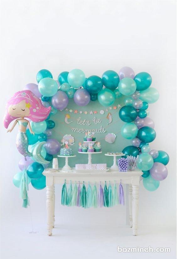 دکوراسیون رویایی جشن تولد دخترونه با تم پری دریایی