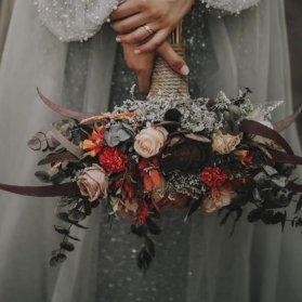 دسته گل عروس با تم زمستانی زیبا برای مراسم فرمالیته