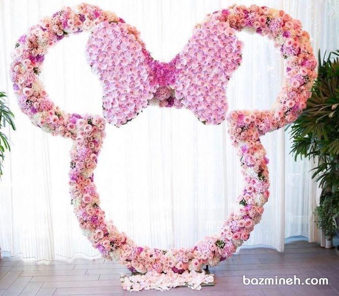 گل آرایی جشن تولد دخترونه با تم مینی موس (Minnie Mouse)