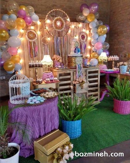 دکوراسیون و بادکنک آرایی زیبای جشن تولد با تم دریم کچر