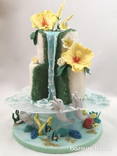 کیک چند طبقه متفاوت جشن تولد