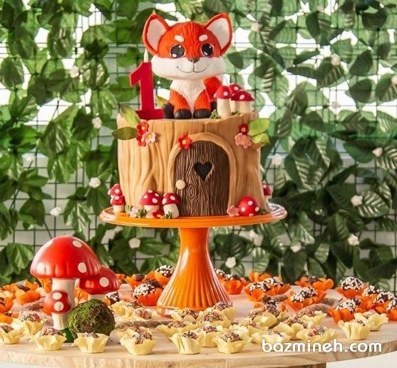 کیک و کاپ کیک های جشن تولد کودک با تم جدید و جذاب روباه. یک ایده جذاب و زیبا برای کسانیکه دوست دارند تا تولدهای کودکانه با رنگ های قرمز و نارنجی برگزار نمایند، انتخاب تم روباه است و در این ایده، کیک با دکوراسیون روباه همراه با خمیر فوندانت را مشاهده می نمایید.