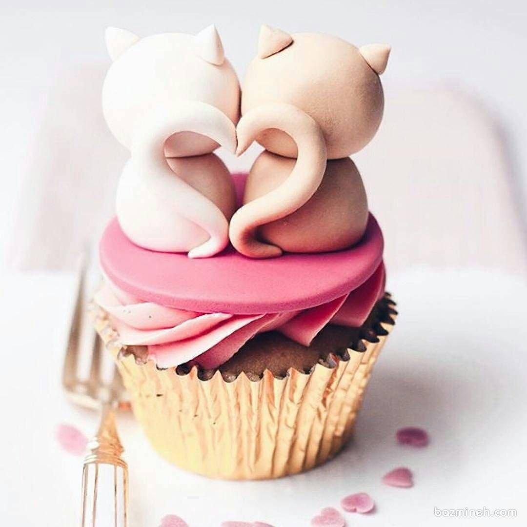 کاپ کیک فانتزی جشن تولد با تم پیشی