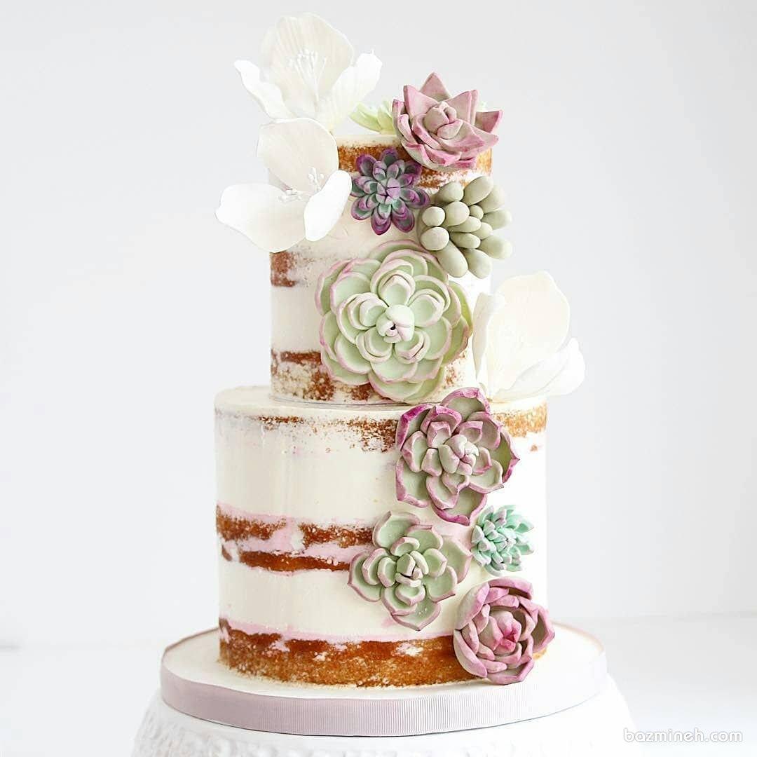 کیک چند طبقه خاص بدون روکش جشن تولد بزرگسال