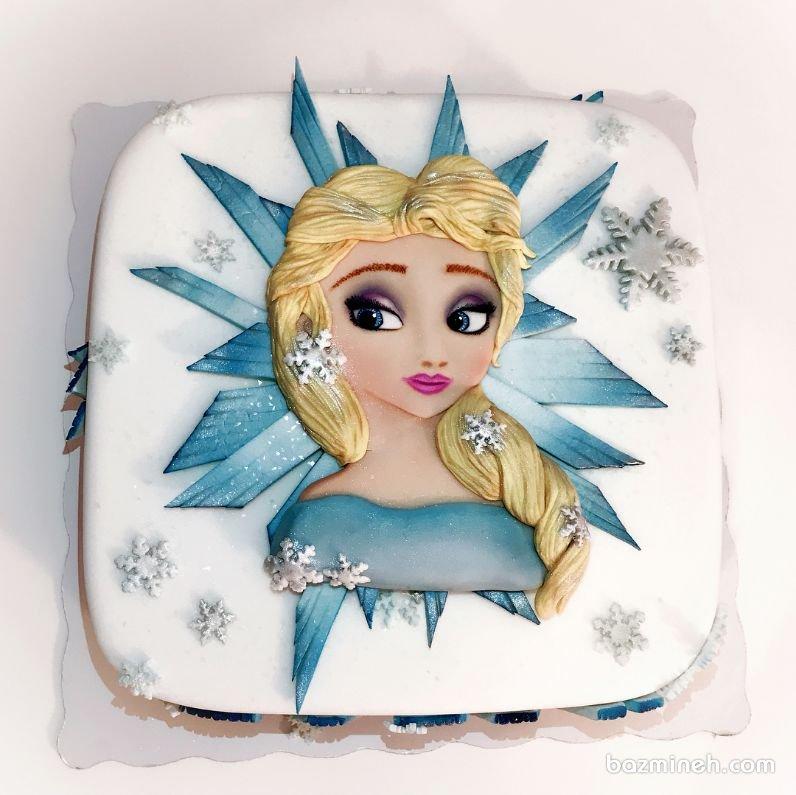کیک جشن تولد دخترونه با تم پرنسس السا (فروزن)