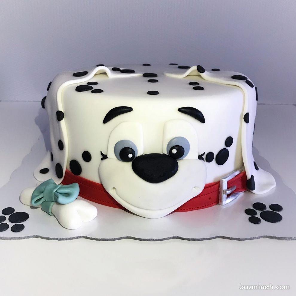 کیک فوندانت جشن تولد کودک با تم سگهای نگهبان