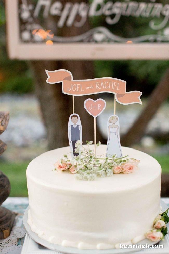 بسیاری از زوج های جوان معتقد هستند که زیبایی در سادگی است و برای تزیینات جشن ها از تم ها و دکوراسیون های ساده استقبال می کنند. کیک ساده و رمانتیک در این ایده برای  جشن نامزدی یا سالگرد ازدواج برای زوج های ساده پسند و خاص پسند توصیه می شود.