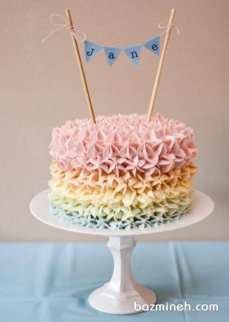 مینی کیک خامهای ساده و یونیک جشن تولد کودک
