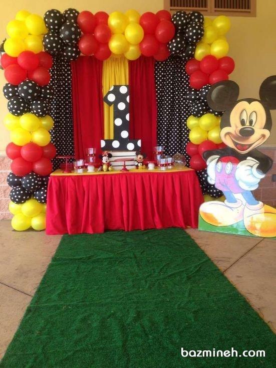 دکوراسیون و بادکنک آرایی جشن تولد کودک با تم میکی موس (Mickey Mouse)