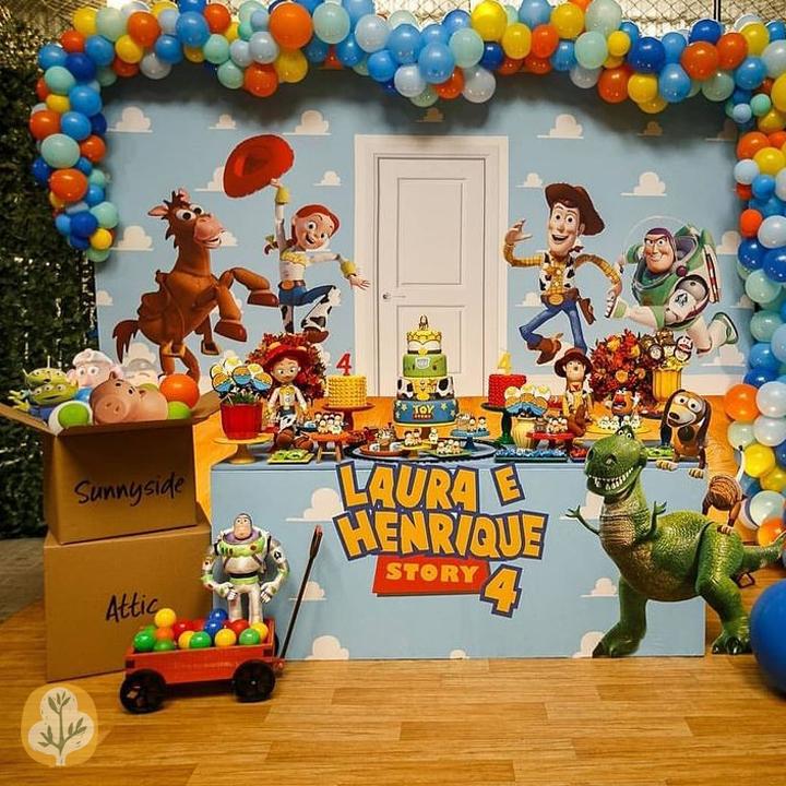 دکوراسیون و بادکنک آرایی تشریفات جشن تولد کودک رها با تم داستان اسباب بازی ها