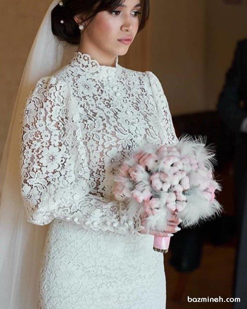 دسته گلی متفاوت برای عروس خانمهای خاص پسند