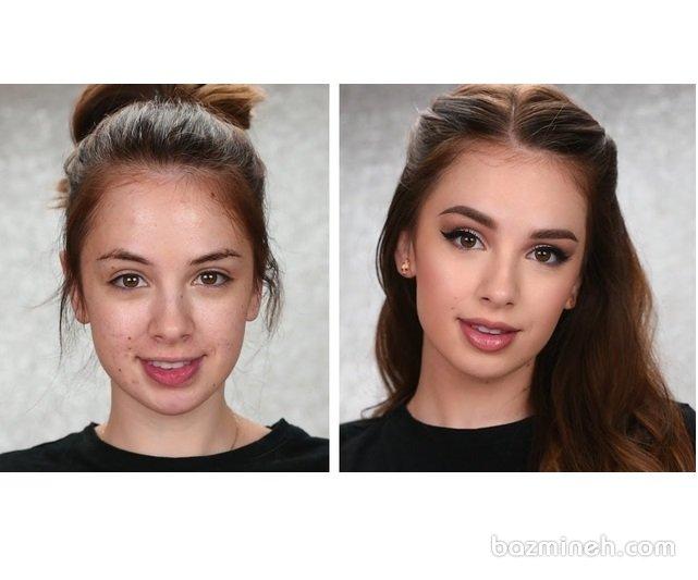 9 ترفند ساده آرایش که شما را زیباتر می کند