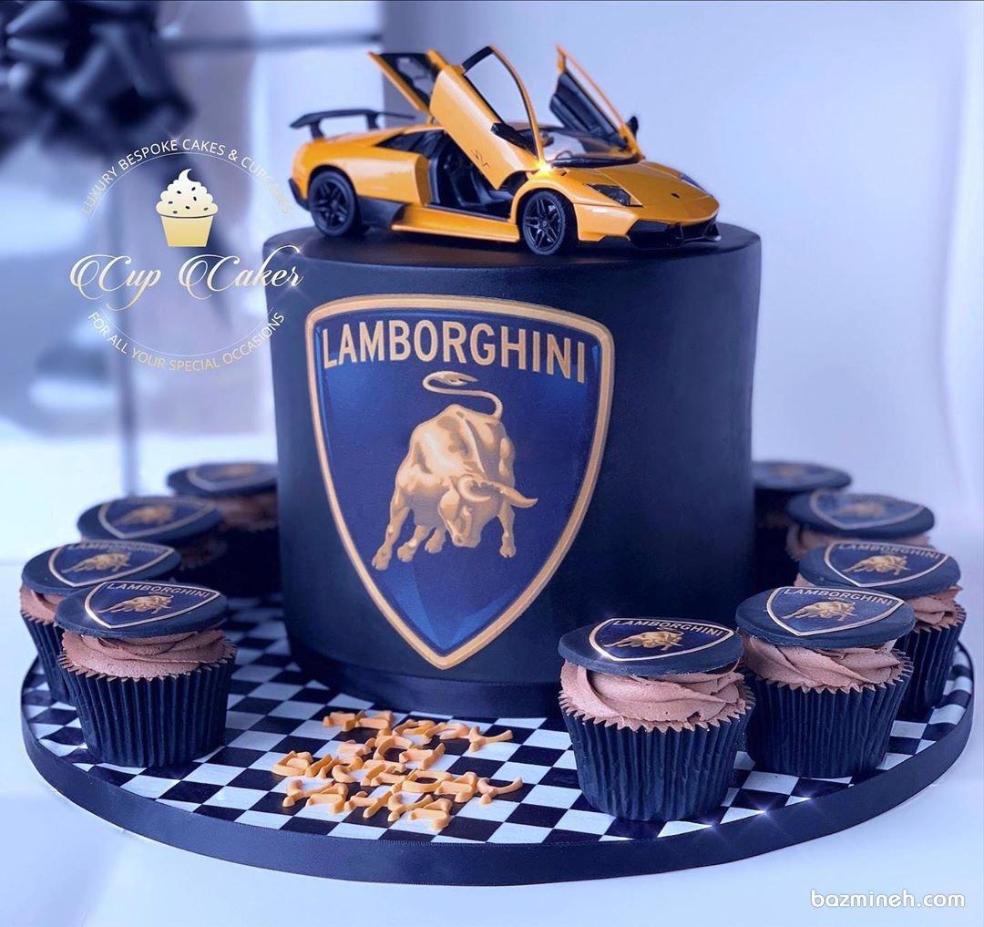 کیک تولد پسرانه با ماشین لامبورگینی