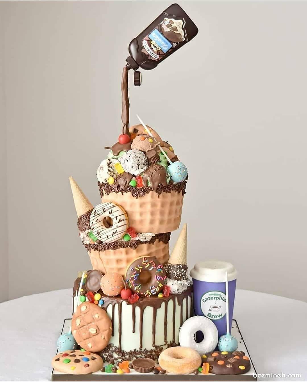 کیک جذاب تولد