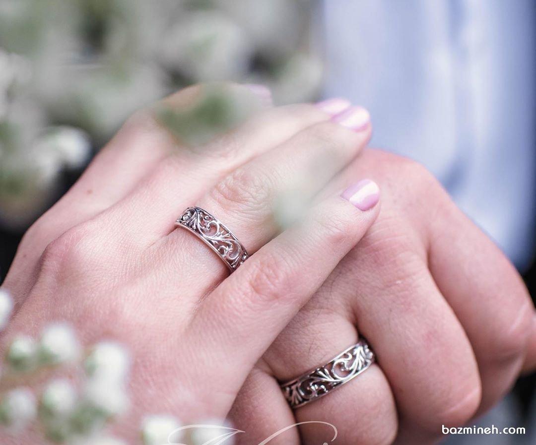 معرفی 30 مدل از جدیدترین حلقه ست عروس و داماد (به همراه عکس)