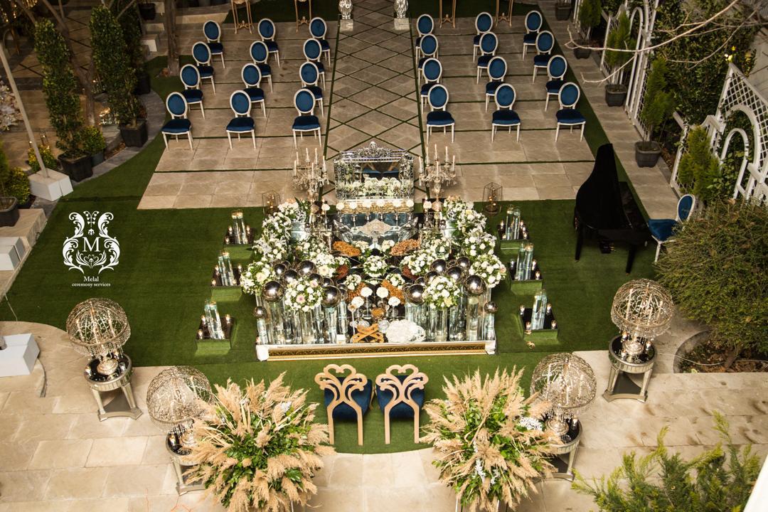 سالن عقد لوکس ملل (ایرانی ) سالن عقد فضای باز - سالن عقد روف گاردن - عقد ایرانی