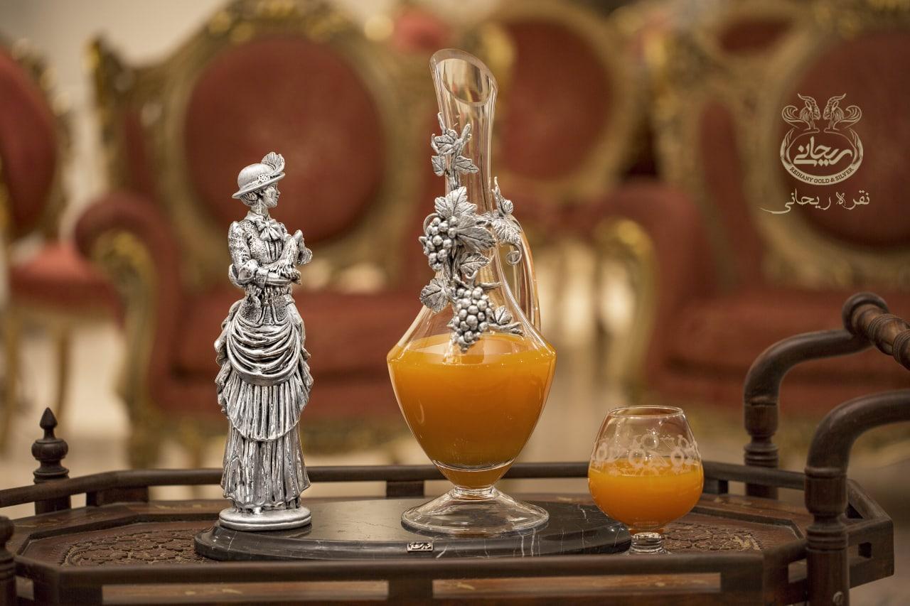 آینه و شمعدان نقره ریحانی