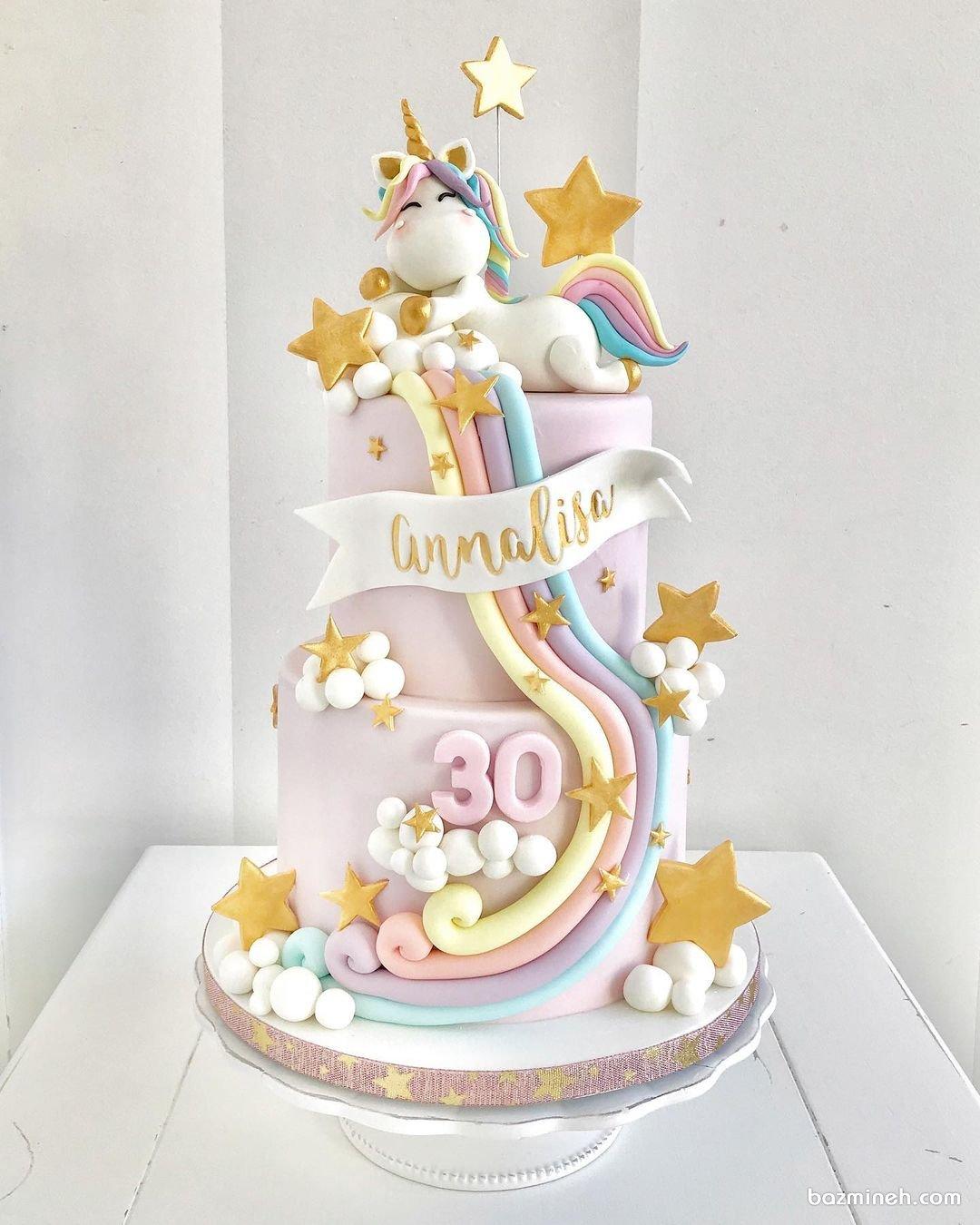 کیک تولد خاص و متفاوت پونی