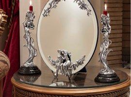 قیمت آینه شمعدان نقره