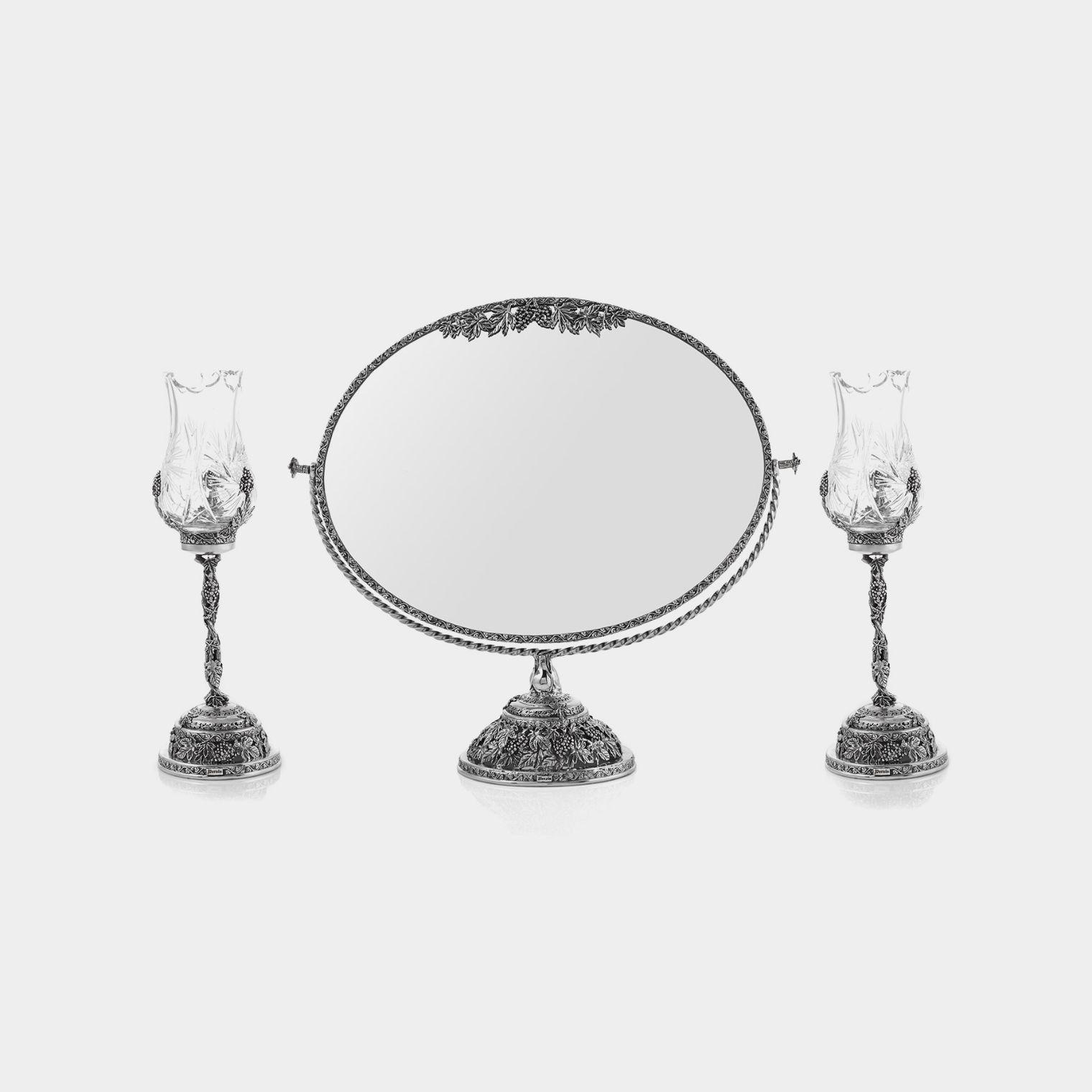 آینه و شمعدان نقره پارسیس