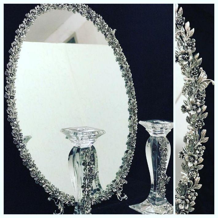آینه و شمعدان نقره کاشفی