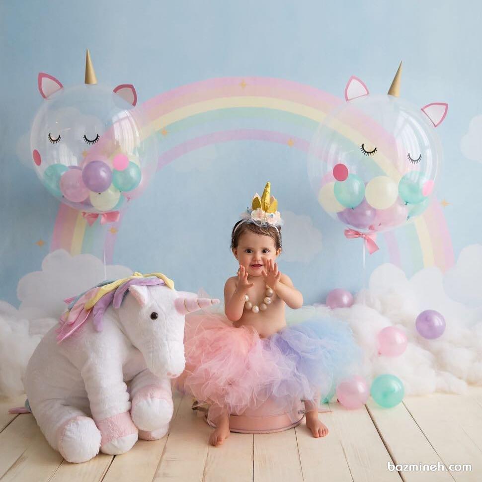 یک دکور رویایی با تم پونی برای تولد کوچولوها
