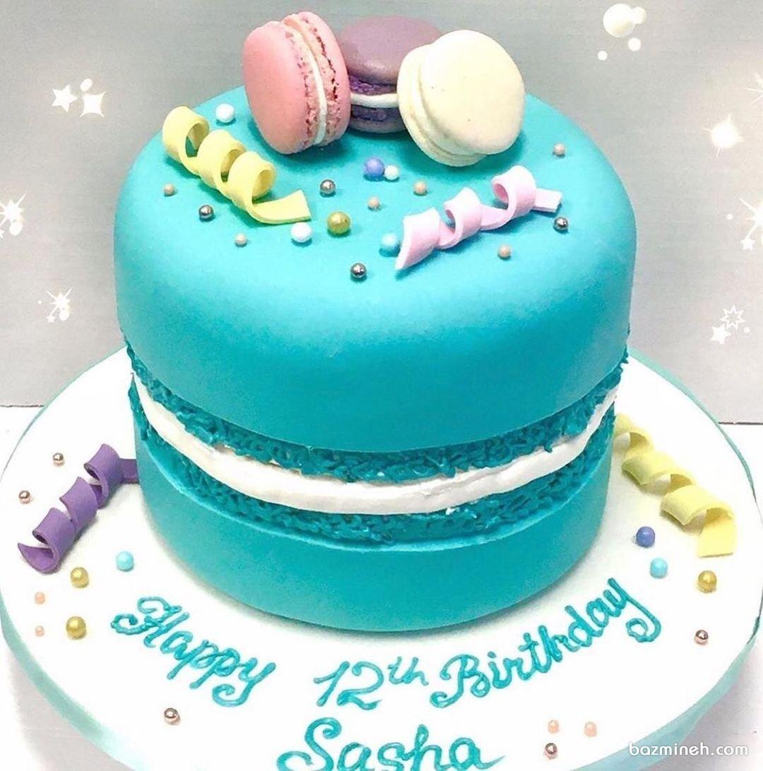 کیک تولد و نامزدی به شکل ماکارون
